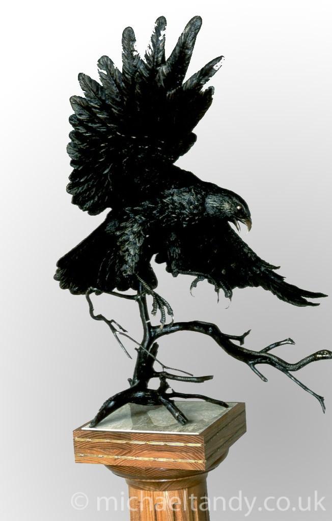 Life Size Bronze Gyr Falcon