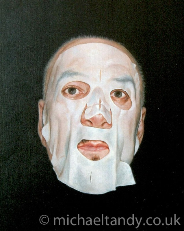 Self Portrait wearing cleansing mask