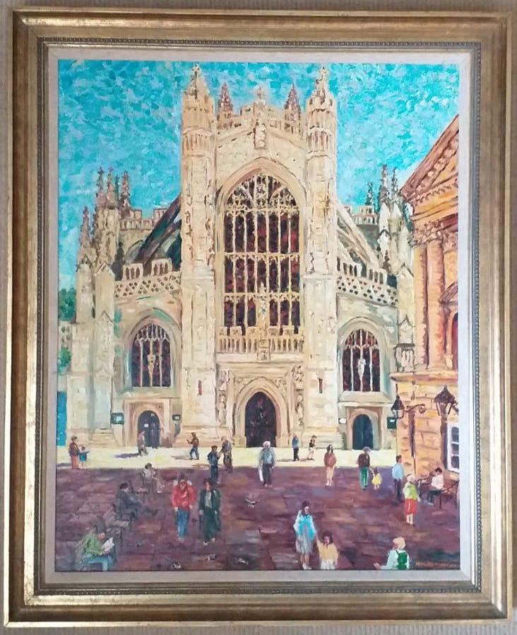 Sunlit Abbey, Bath
